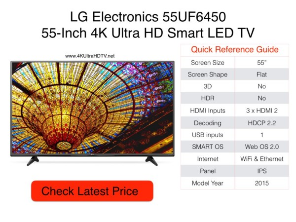 LG Electronics 55UF6450 Quick Reference Guide